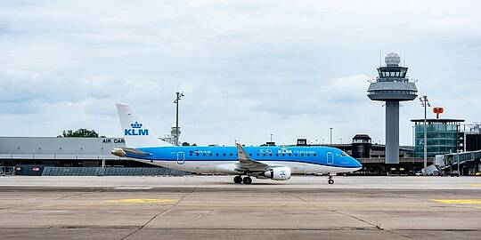 KLM-Maschine am Hannover Airport